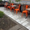 hillman city parklet seattle tin umbrella coffee